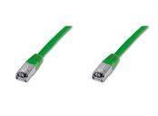 Digitus Patch Cable, S-FTP, CAT 6, AWG 27/7, LSOH, Měď, zelený 1m