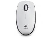 Logitech myš B100, optická, 3 tlačítka, bílá,800dpi