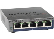 Netgear PLUS SWITCH, 5xGbE (mngt. via PC utility-monitoring also via WEB)