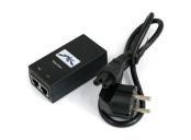 Ubiquiti POE-48, Gigabit PoE adapter 48V/0,5A (24W), pro UAP-PRO, RocketM5-Ti, včetně napájecího kabelu