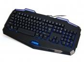 !! AKCE !! Crono CK2110 - herní klávesnice se 3 barvami podsvětlení , USB, CZ / SK, černá