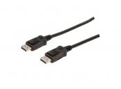 Digitus DisplayPort 1.1a. připojovací kabel 3m, CU, AWG30, 2x stíněný