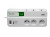 APC Essential SurgeArrest 6 outlets with 5V, 2.4A 2 port USB charger, 230V Czech