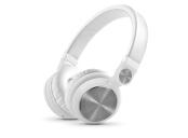 ENERGY Headphones DJ2 White Mic, stylová DJ sluchátka, skládatelná, otočná, mikrofon ,odnímatelný kabel, 108 dB,3,5mm