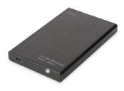 Digitus Externí Hliníkové Pouzdro 2,5 SSD / HDD, SATA III USB 2.0