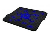 C-TECH Herní podložka pod myš ANTHEA CYBER BLUE, 320x270x4mm, obšité okraje