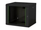 Digitus 9U skříňka montáž na stěnu, 509x600x450 mm, barva černá (RAL 9005)