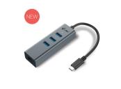 i-Tec USB-C 3.1 HUB 3port Metal + Gigabit Ethernet adaptér, 1x USB na RJ-45