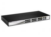D-Link DGS-1210-26 L2/L3 Smart+ switch, 24x GbE, 2x SFP, fanless
