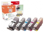 PEACH kompatibilní cartridge CanonPGI-570XL/CLI-571XL Com pack, 4x13 ml,1xBlack,1xCyan,1xMagenta,1xYellow, 1x23ml blac