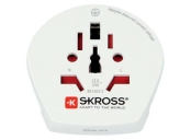 Skross SKR1500211E - Cestovní adaptér do evropských zemí v blistru, bílý