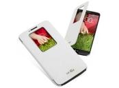 LG flipové pouzdro CCF-240G pro LG G2, bílá