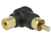 Delock adaptér RCA samec > RCA samice 90° úhel