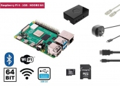 Raspberry Pi 4, 1GB Starter Kit, WiFi, Bluetooth + NOOBS software