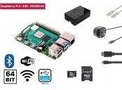 Raspberry Pi 4, 4GB Starter Kit, WiFi, Bluetooth + NOOBS software