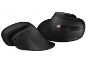 CONNECT IT FOR HEALTH ergonomická vertikální myš, (+ 1x AA baterie zdarma), bezdrátová, ČERNÁ
