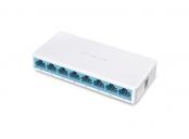 MERCUSYS MS108, 8-port 10/100M mini Desktop Switch, 8 10/100M RJ45 ports, Plastic case