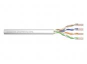Digitus Instalační kabel CAT 5e U-UTP, 100 MHz Eca (PVC), AWG 24/1, papírová krabička 100 m, simplex, barva šedá