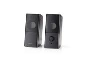 Nedis GSPR10020BK - Herní Reproduktory | 2.0 | Napájení USB | Jack 3,5 mm | RMS 6 W
