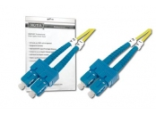 DIGITUS Fiber Optic Patch Cord, SC to SC, OS2, Singlemode 09/125 µ, Duplex, Length 2m