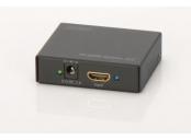 Digitus 4K HDMI Rozbočovač 1x2,, podporuje audio, DSD audio, HD Audio,  černý