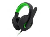C-TECH herní sluchátka s mikrofonem Nemesis V2 (GHS-14G), černo-zelená