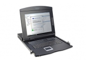DIGITUS Professional Modular console with 17 TFT (43,2cm), 16-port KVM & Touchpad, US keyboard