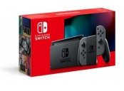 Nintendo Switch console with grey Joy-Con V2