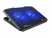 C-TECH Chladící podložka pro ntb CLP-140, 15,6, 2x 140mm, 2x USB, modré podsvícení