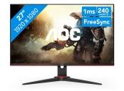 AOC LCD herní C27G2ZU 27 zakřivený VA Freesync/1920x1080@240Hz/50m:1/300cd/0,5ms/2xHDMI/DP/4xUSB/reproVESA
