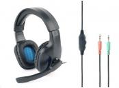 Herní sluchátka s mikrofonem Gembird GHS-04 Gaming, černo-modrá