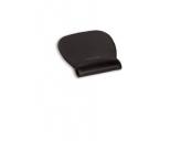 3M Gelová podložka pod myš s oporou zápěstí, koženka, Precise™ povrch podložek,  černá