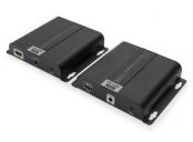 DIGITUS Sada 4K HDMI Extender přes IP / CAT 5, 6 (120 m), kompletní napájení PoE, UHD 4K/30 Hz