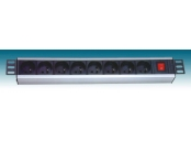 PremiumCord 19 PDU, 1.5U, 8x230V, 2m kabel Euro, vypínač