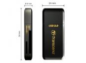 Transcend RDF5 USB 3.0 čtečka paměťových karet SDHC (UHS-I)/SDXC (UHS-I)/microSDHC (UHS-I)/microSDXC (UHS-I), černá