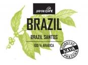 Pražená zrnková káva - Brasil Santos (1000g)