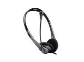Modecom MC-219U headset, sluchátka s mikrofonem, 1,8m kabel, USB, LED indikace, černá