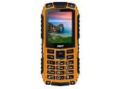 iGET Defender D10 Orange - Odolný telefon/2,4/320x240/Dual SIM/fotoaparát 0,3 MPx/32Mb+32Mb/baterie 2500 mAh/svítilna