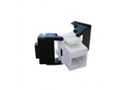 UTP keystone OPTIX Cat6, beznástrojový, bílý, š. 17 mm