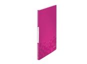 Katalogová kniha Leitz WOW, PP, 20 kapes, růžová