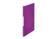 Katalogová kniha Leitz WOW, PP, 20 kapes, purpurová