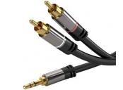 PremiumCord HQ stínený kabel stereo Jack 3.5mm-2xCINCH M/M 1,5m