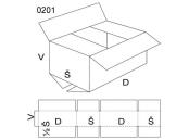Klopová krabice, velikost 1, FEVCO 0201, 220 x 80 x 160 mm