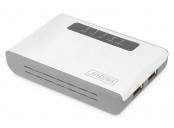 DIGITUS 2portový bezdrátový multifunkční síťový server USB 2.0, 300 Mb / s