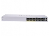 CBS110 Unmanaged 24-port GE, Partial PoE, 2x1G SFP Shared