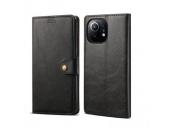Lenuo Leather flipové pouzdro pro Xiaomi Mi 11 Lite, černá