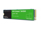 WD GREEN SSD SN350 NVMe WDS240G2G0C 240GB M.2 PCIe Gen3 2280, (R:2400, W:900MB/s)