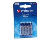 VERBATIM baterie AAA 1,5V Alkalické blister 4ks
