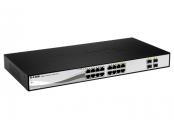 D-Link DGS-1210-16 Smart switch, 16x GbE, 4x RJ45/SFP, fanless