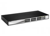 D-Link DGS-1210-24 Smart switch, 24x GbE, 4x RJ45/SFP, fanless
